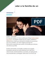 Cómo Ayudar a La Familia de Un Suicida