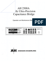 Andeen-hagerling 2500a Operation