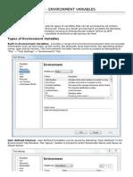 Qtp Environment Variables