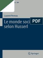 Laurent Perreau - Le Monde Social Selon Husserl