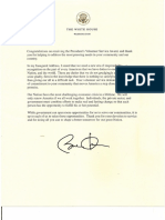 Letters from Barack Obama 2016
