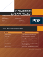 MVTG the Palmerston Laneway Final Presentation