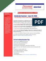 Newsletter Summertime 08 June 08