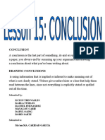 Pointers for Writing a Conclusion