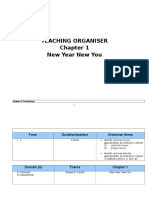 English KSSM Form 1 Teaching Organizer Chapter 1