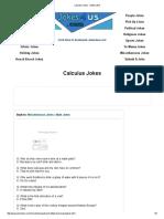 Calculus Jokes - Math Jokes