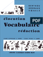 Berthou Elocution Vocabulaire Redaction
