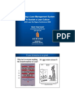 Utilizing a Lean Management System