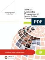 INSEAD Leadership Programme for Senior Indian Executives