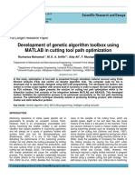 Development of genetic algorithm toolbox using MATLAB in cutting tool path optimization
