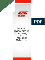 Inverter Transformer Core Gesign