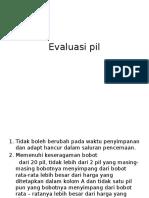 Evaluasi Pil