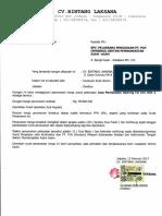 Penawaran Harga Pendamping CV. Bintang Laksana Pek. Jasa Pembuatan Bearing FD Fan Unit 2