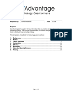 Marketing Strategy Questionnaire (All)