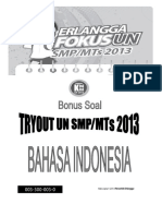Soal Tryout b. Indonesia2013