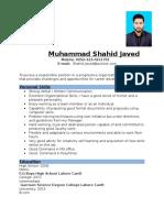Shahid CV
