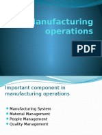 Manufacturing Operations & Cost