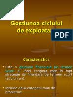 8.Gestiunea Ciclului de Exploatare