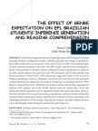 The Effect of Genre Expectation on EFL Brazilian Students' Inference Generation and Reading Comprehension.