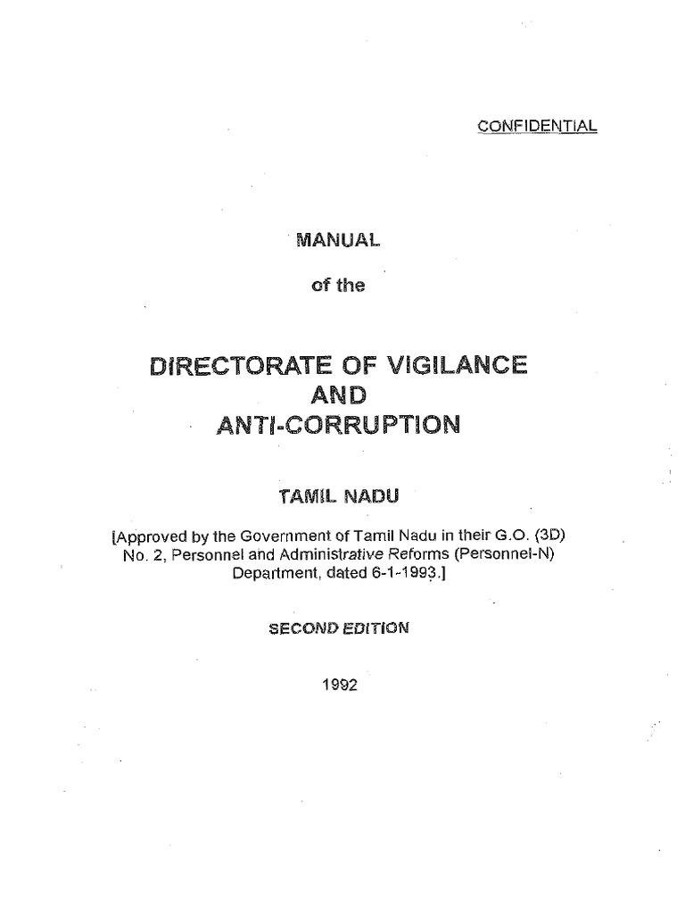 VIGILANCE MANUAL-Final pdf | Police | Corruption