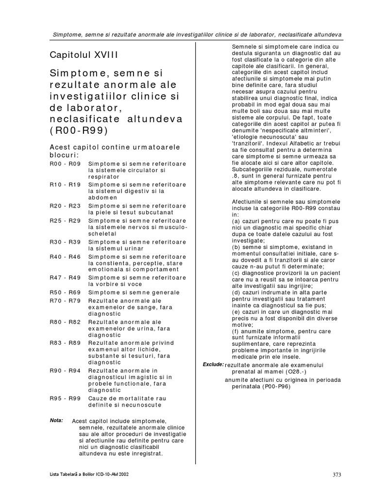 (PDF) LISTA TABELARĂ A BOLILOR ICDAM | Marius Bunescu - turismmiraslau.ro