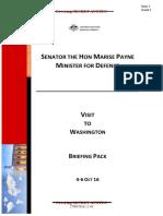 Marise Payne Lefty pro-Clinton briefing for Visit to Washington