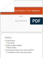 Predetermined Motion Time Systems