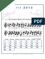 April Liederkalender