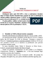 Romania in perioada Razboiul Rece