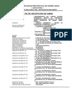Acta de Recepcion Obra Shanantia