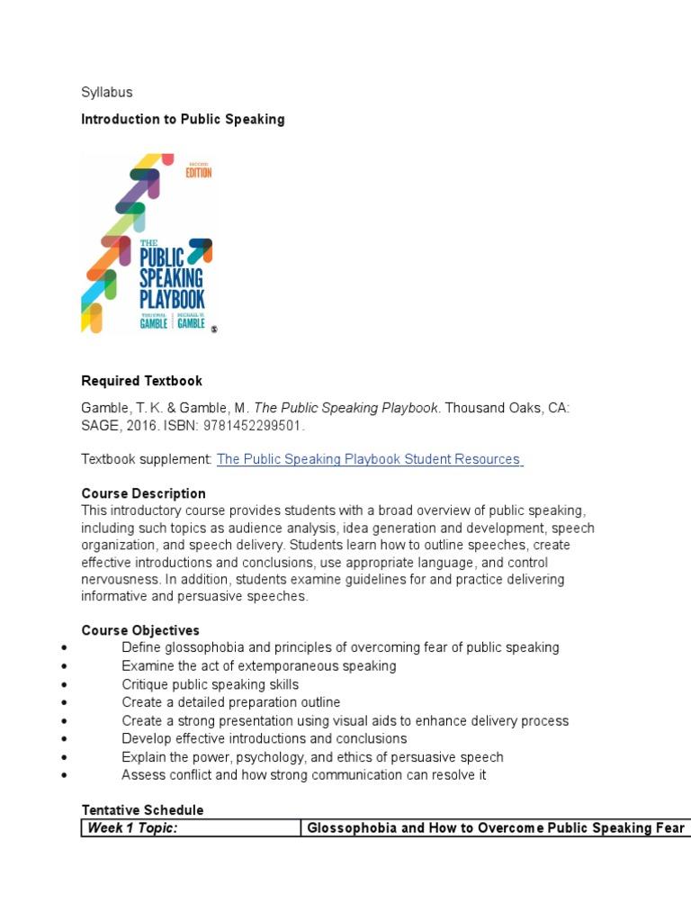 public speaking outline