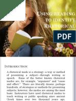 Using Reading to Identify Rethorical Modes