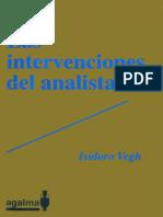 Las Intervenciones Del Analista [Isidoro Vegh]