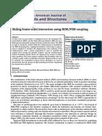 Sliding Frame‐Solid Interaction Using BEMFEM Coupling