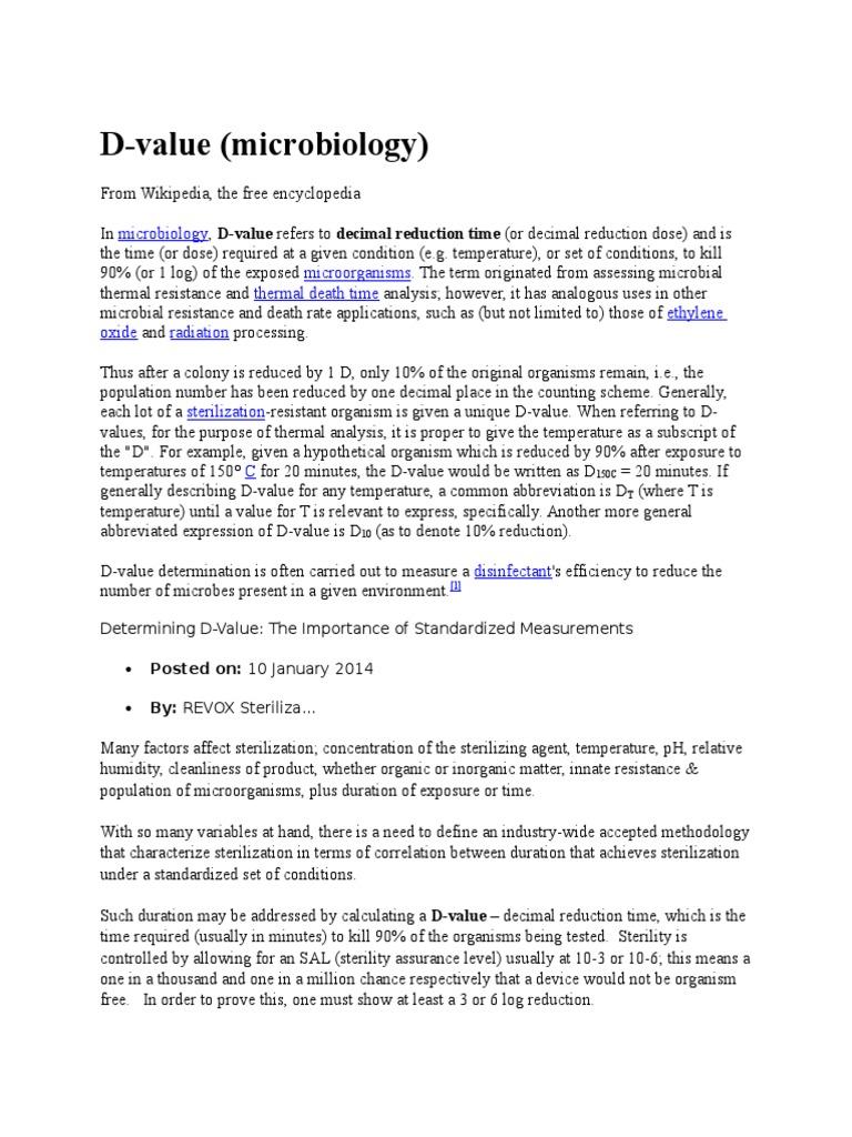 D | Sterilization (Microbiology) | Química