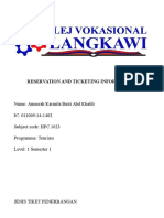 Reservation and Ticketing Information