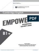 B1+ Intermediate Teacher book
