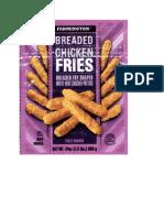 OK Foods. Inc Recalls Breaded Chicken Products
