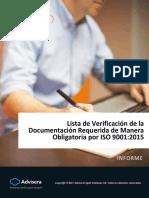 Checklist of ISO 9001 2015 Mandatory Documentation ES