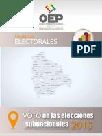 Boletn Elecciones Subnacionales 2015 Bolivia