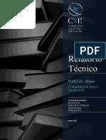 Relatório Técnico CNE perfilaluno