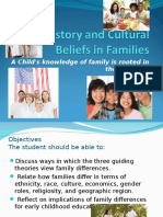 history and cultural beliefs in families