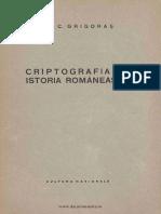 (1924) Criptografia & Istoria Romaneasca [E.C. Grigoras]
