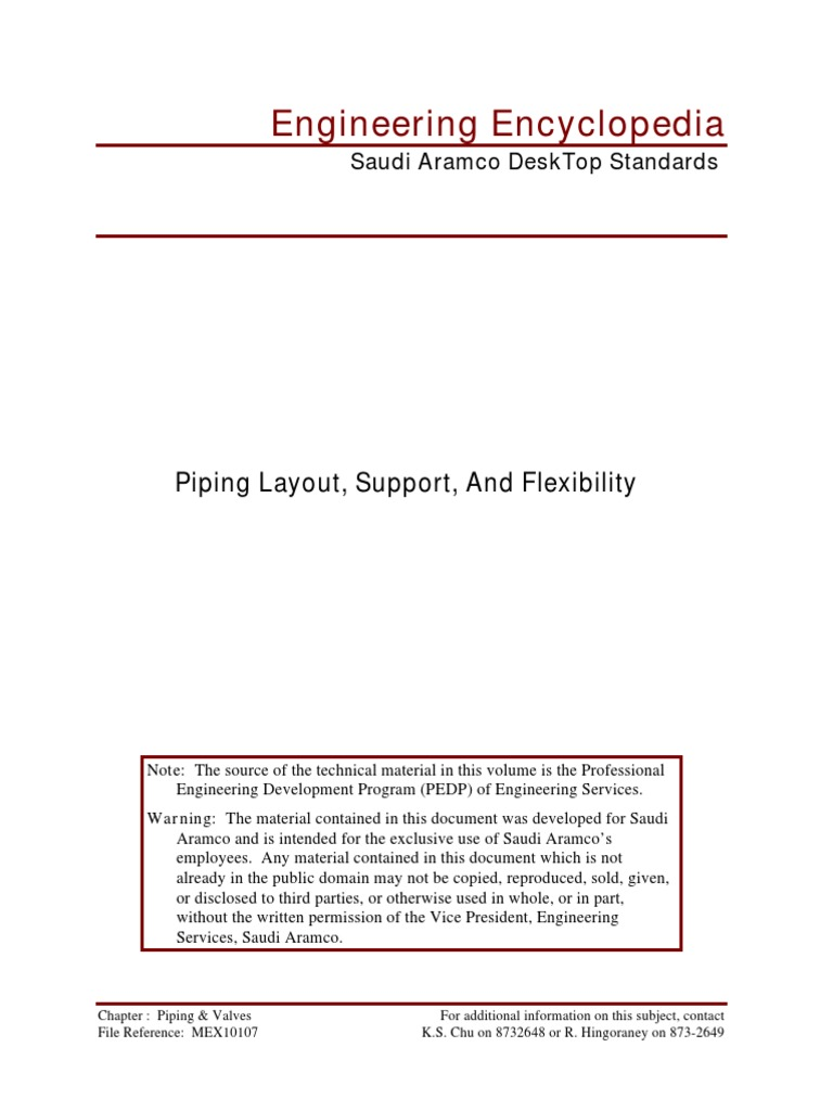 Piping Layout Support And Flexibilitypdf Pipe Fluid Conveyance Pictures Pump