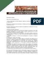 Call for Pepers 2017 Version Corregida y Definitiva Revista Uruguaya de Antropología y Etnografía