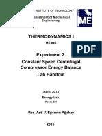 Centrifugal Compressor - Lab Handout