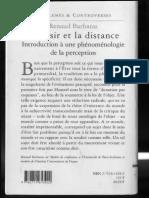 Renaud Barbaras, le désir et la distance