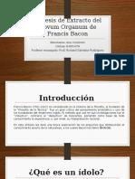 Síntesis de Extracto Del Novum Organum de Francis Bacon