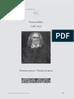 Tractatus Opticus - Tratado de Óptica - Hobbes