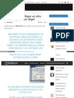 Con El Terminal Bajar Un Sitio Web Compl